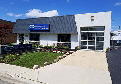 Outside view of Collision Service Center on contact page